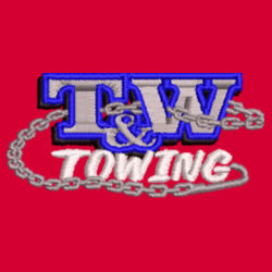 T&W Towing Youth Crewneck Sweatshirt - Red Design