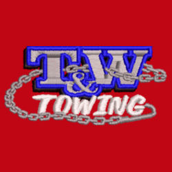 T&W Towing V-Flex Twill Cap - Red Design