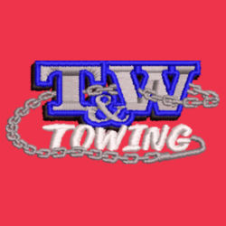 T&W Towing Knit Beanie - Red Design
